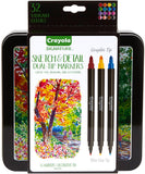 Crayola Signature Sketch and Detail Dual-Tip Markers with Tin Asst Colors 16pk
