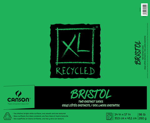 Canson XL Bristol 2-Sided Pad 14inX17in 25 Sheets