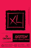Canson XL Sketch Foldover Pad 5.5inX8.5in 100 Sheets