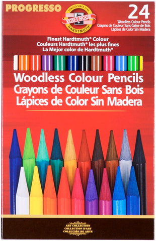Progresso Woodless Color Pencils Assorted Colors 24pk