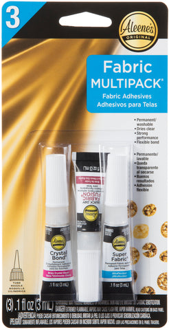Aleene's Assorted Fabric Fusion Glue 3pk