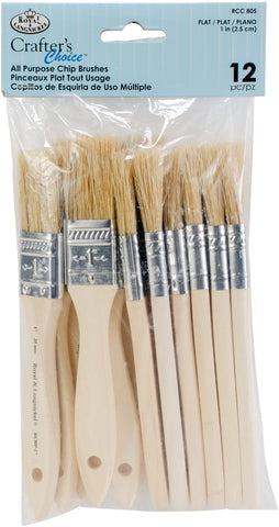 Crafter's Choice Chip Brushes 1in 12pk