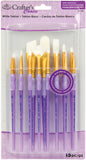 Crafter's Choice White Taklon Brush Value Set 15pk