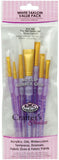 Crafter's Choice White Taklon Flat Brush Variety Set 7pk