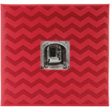 Pioneer Embossed Post Bound Frame Album Red 12inX12in
