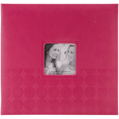 Pioneer Embossed Post Bound Frame Album Pink 12inX12in
