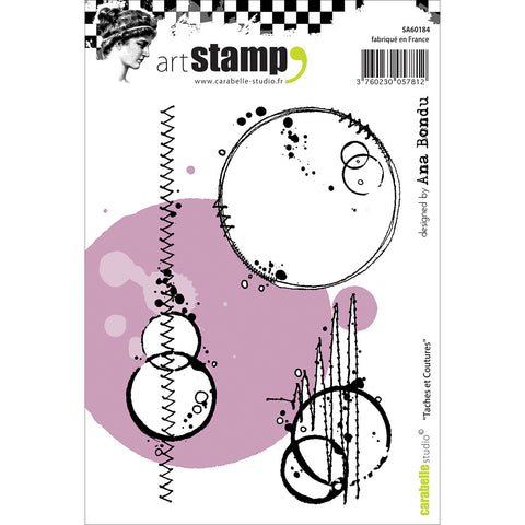 Carabelle Studio Cling Stamp A6 Stains and Seams