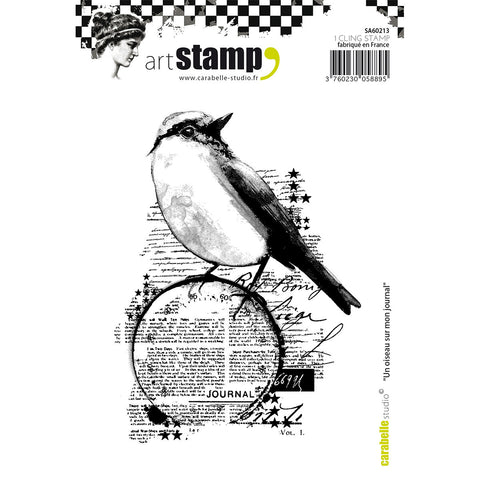 Carabelle Studio Cling Stamp A6 A Bird On My Diary
