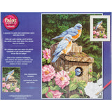 Paint Works Paint By Number Kit Garden Bluebirds 14inX20in