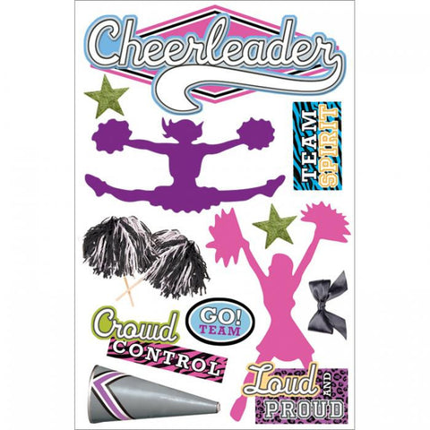 3D Sticker - Cheerleader