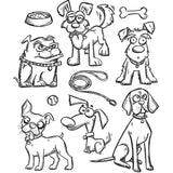 Tim Holtz Cling Rubber Stamps Crazy Dogs