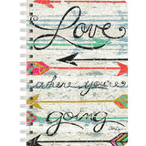 Spiral Journal Love Where You Go 6inx8.25in