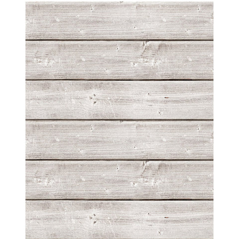 Jillibean Soup Mix The Media Wooden Plank Weathered White 18inX24in