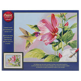 Paint Works Paint By Number Kit Hibiscus Hummingbird 14inX11in