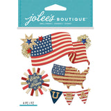 Jolee's Boutique Dimensional Stickers American Flag