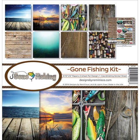 Reminisce Collection Kit Gone Fishing 12inX12in