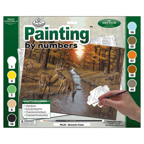 Paint By Number Kit Symond's Creek 15.375inX11.25in