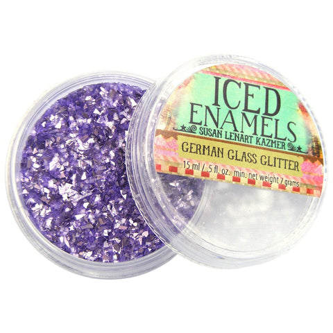 Iced Enamels Inclusions German Glass Glitter Amethyst