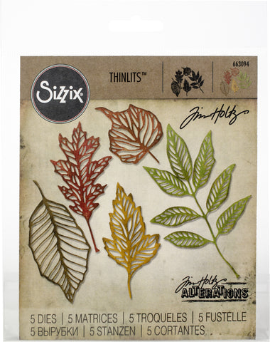 Sizzix Thinlits Dies By Tim Holtz Skeleton Leaves 5pk