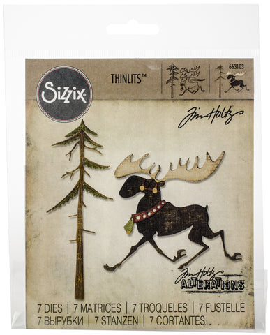 Sizzix Thinlits Dies By Tim Holtz Merry Moose 12pk