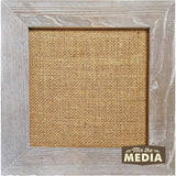 Jillibean Soup Mix The Media Wood Framed Burlap Weathered 10inX10in