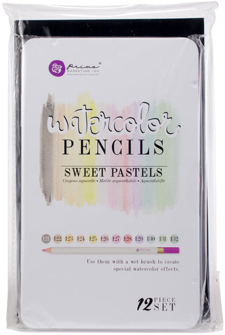 Prima Marketing Watercolor Pencils Sweet Pastels 12pk