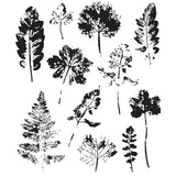 Tim Holtz Cling Stamps Leaf Prints