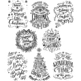 Tim Holtz Cling Stamps Doodle Greetings