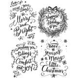Tim Holtz Cling Rubber Stamps Doodle Greetings #1 7inx8.5in