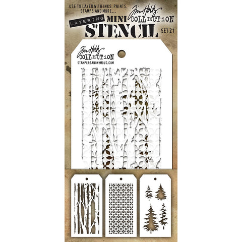 Tim Holtz Mini Layering Stencil Set #21