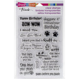 Stampendous Perfectly Clear Stamps Dog Sayings 4inx6in