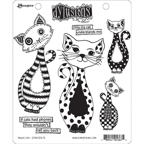 Dyan Reaveley's Dylusions Cling Stamps Puddy Cat