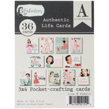 Fabulous Authentic Life Cards Pocket Crafting and Journaling Cards 3inX4in
