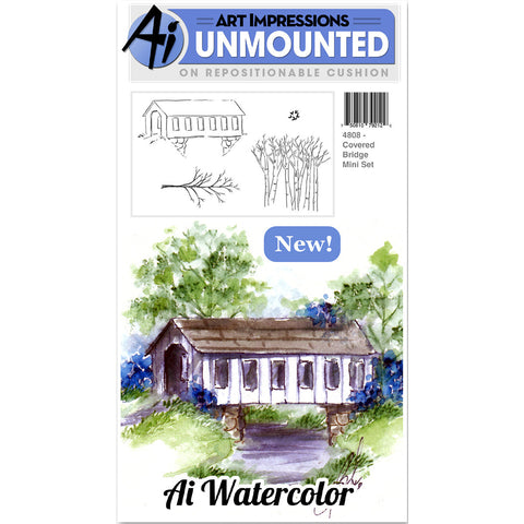 Art Impressions Cling Rubber Stamp Sets Covered Bridge 3inx4in