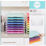 Stackable Acrylic Paper Trays Retail Packaged Clear 12inX12in 4pk