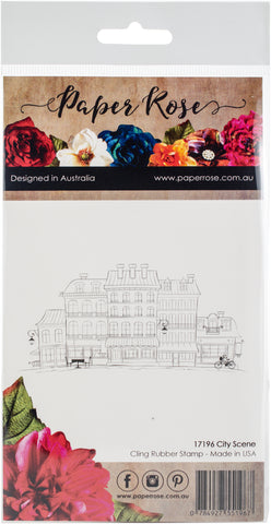 Paper Rose Cling Stamps City Scene