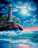 Paint Works Paint By Number Kit Lighthouse In The Moonlight 16inX20in