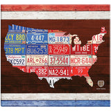 American License Plate Post Bound Scrapbook 12inx12in