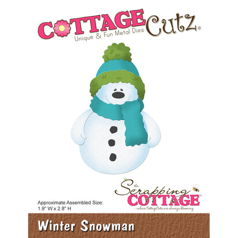 CottageCutz Die Winter Snowman 1.9inx2.8in