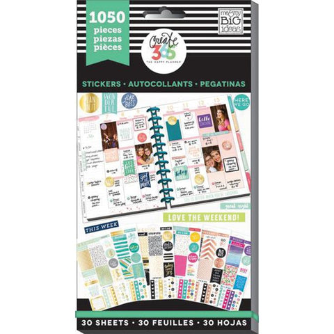 Create 365 Happy Planner Sticker Value Pack This Colorful Life Classic 1050pk