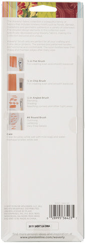 Waverly Brushes Basic Set 4pk