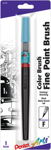 Pentel Arts Fine Point Brush Pen Black Ink