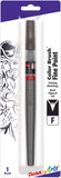 Pentel Arts Color Brush Pen Fine Tip Black Pigment Ink