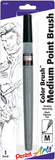Pentel Arts Color Brush Pen Medium Tip Black Pigment Ink