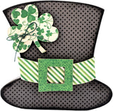 "Interchangeable ""O"" Wood Shape March Leprechaun Hat 5.5inX5.125in"