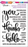 Stampendous Perfectly Clear Stamps Big Words Thanks