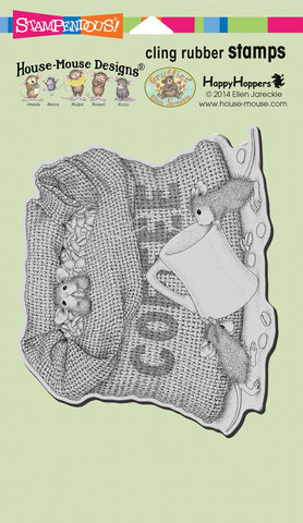 Stampendous House Mouse Cling Stamp Coffee Break