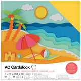 American Crafts Variety Cardstock Pack Summer 12inX12in 60pk