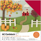 American Crafts Variety Cardstock Pack Autumn 12inX12in 60pk