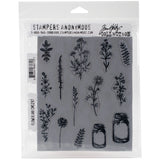 Tim Holtz Cling Stamps Flower Jar 7inX8.5in